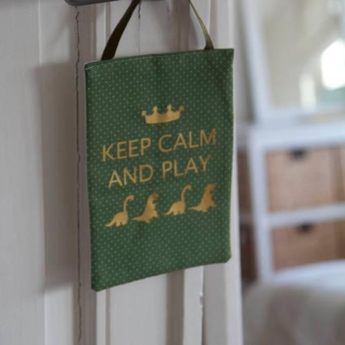 panneau de porte keep calm dos