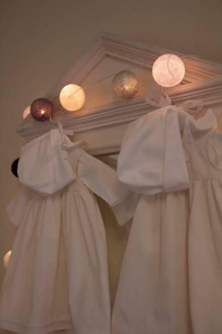 robes baptême citronille